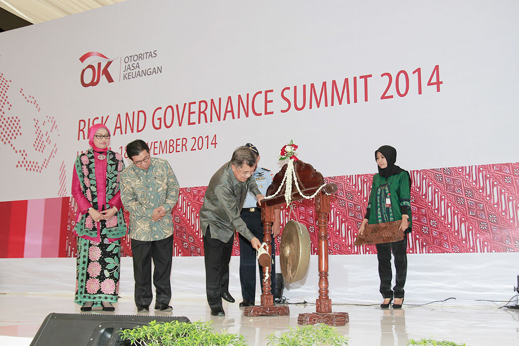 Wakil Presiden Jusuf Kalla Membuka Risk and Governance Summit 2014
