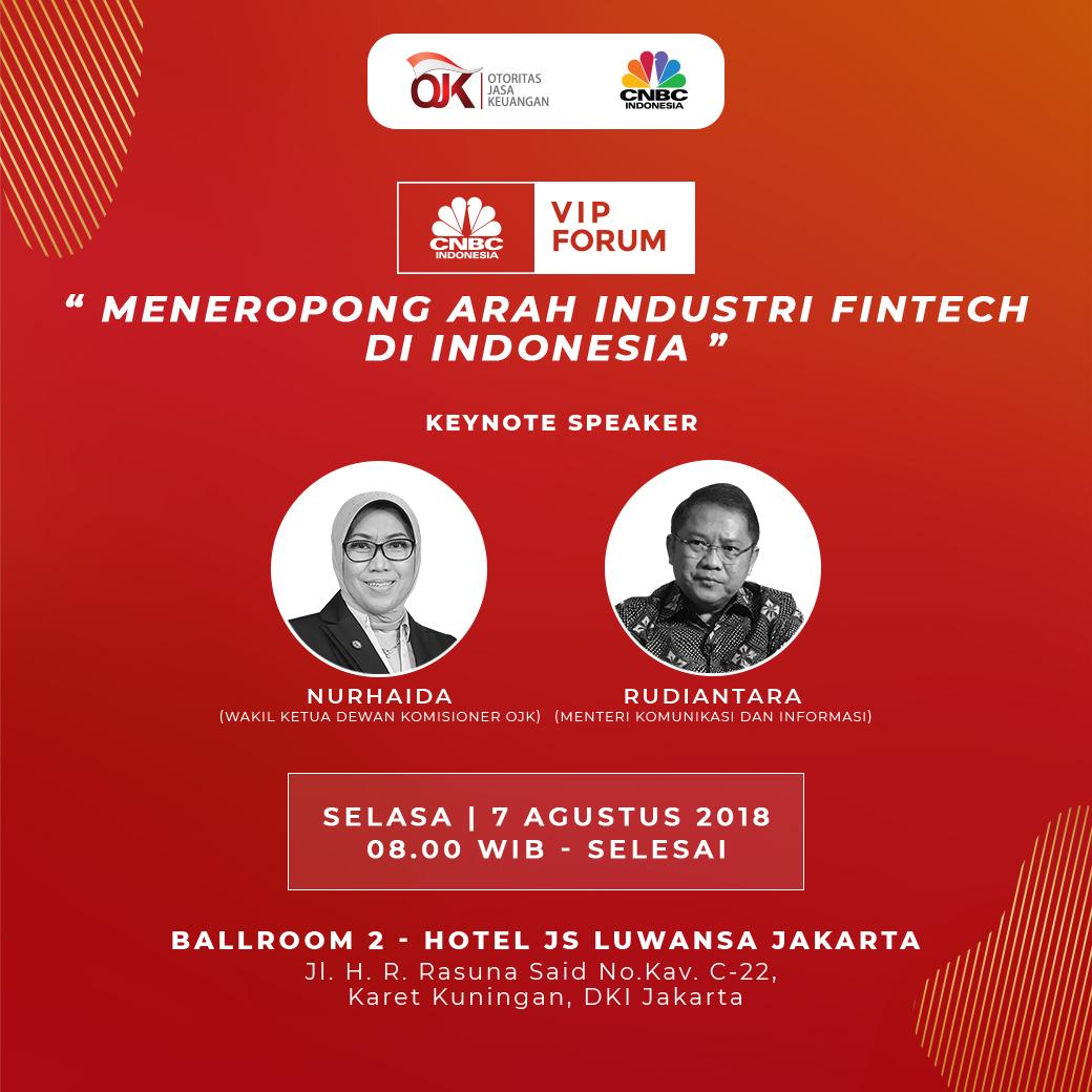 """Robert Pakpahan: VIP Forum """"Meneropong Arah Industri Fintech Di Indonesia"""""""